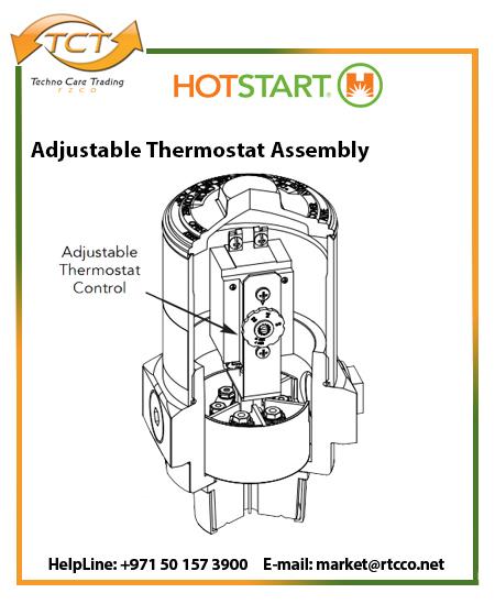 Hotstart Oil Heater – Industrial Immersion Adjustable Thermostat