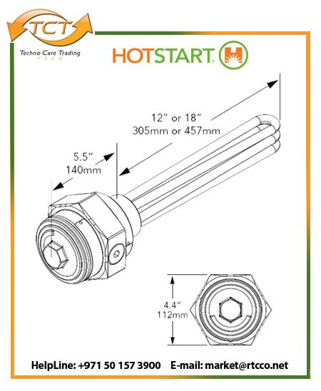 Hotstart Oil Heater – Industrial Immersion Hazardous Location