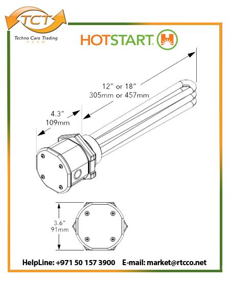 Hotstart Oil Heater – Industrial Immersion Weathertight