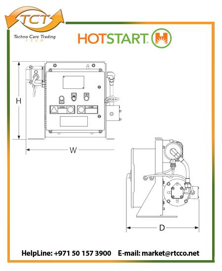 Hotstart OSM Oil Only Forced Circulation Heater Draft